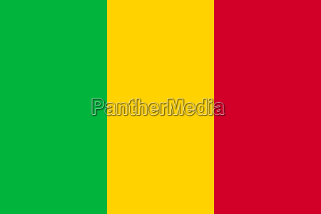 flag of mali in correct proportions