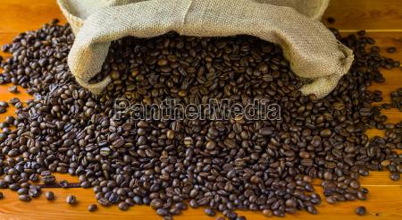 coffee beans in jute