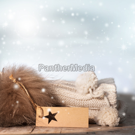 wintry still life with warmth and