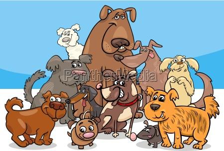 cartoon dog characters group