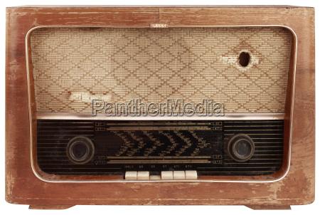 old wooden radio cutout