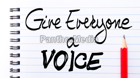 give everyone a voice note written
