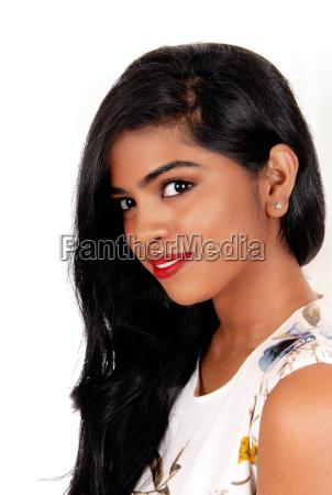 closeup of beautiful indian woman