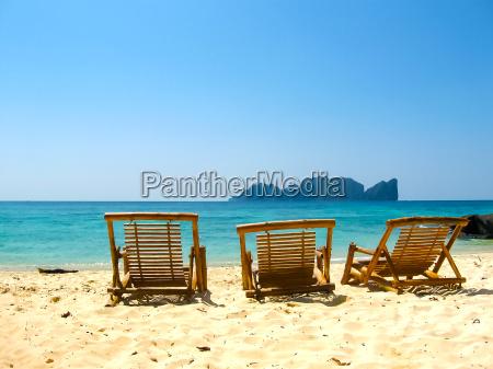 tropical landscape railay beach krabi thailand