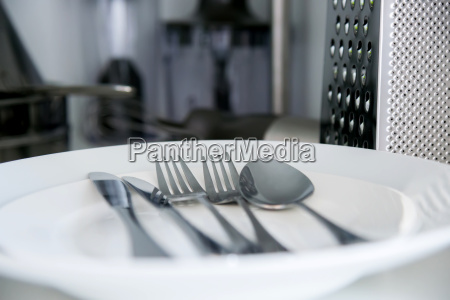 fork spoon and table knife on