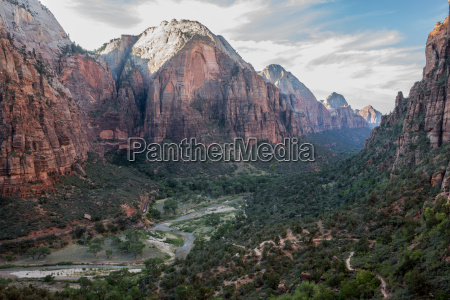 zion main canyon from angels landing