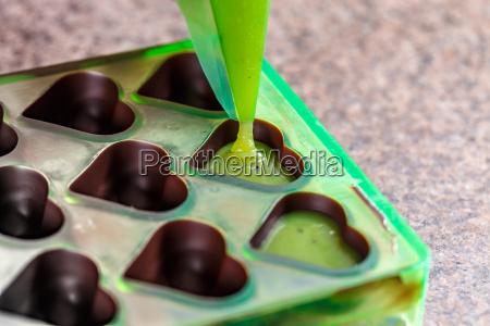 making homemade praline sweets