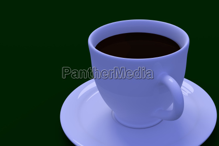 3d rendering of a white coffee