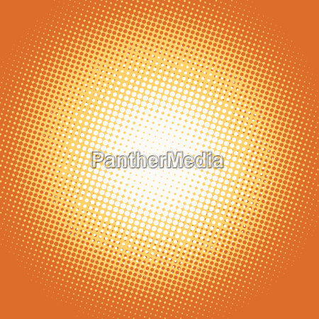 orange pop art retro background with
