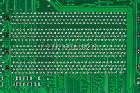 green circuit board a background