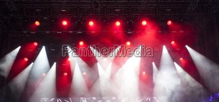 stage lights and smoke on concert