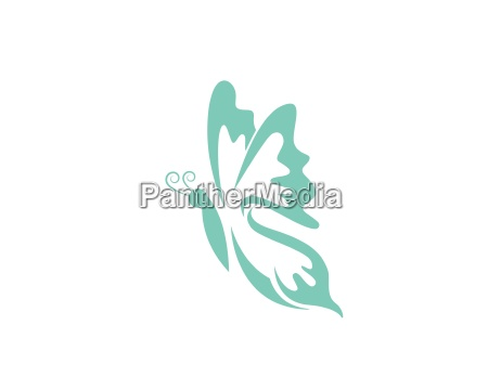 beauty butterfly logo template vector icon