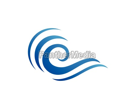 water wave symbol and icon logo