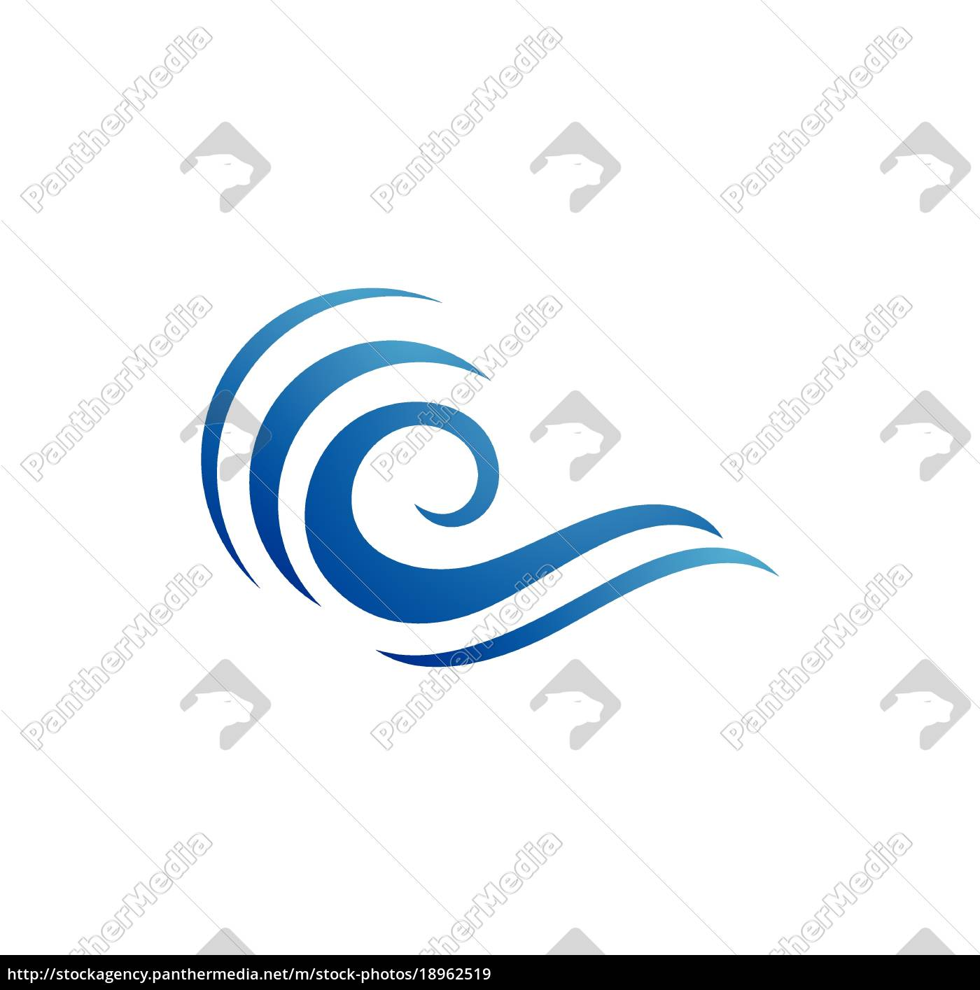 water, wave, symbol, and, icon, logo - 18962519