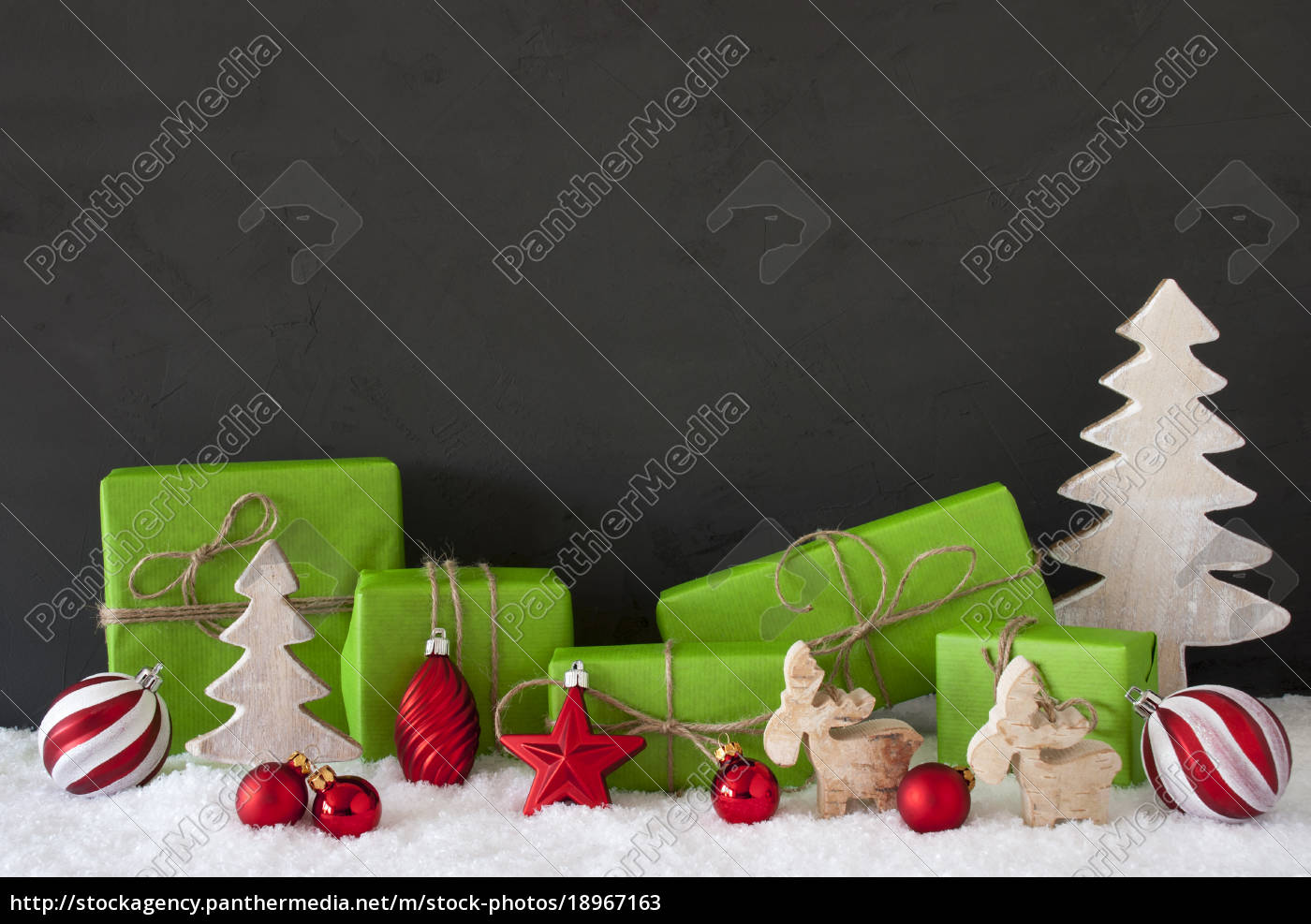 red, and, green, christmas, decoration, , black - 18967163