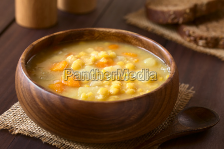 yellow split pea and vegetable soup