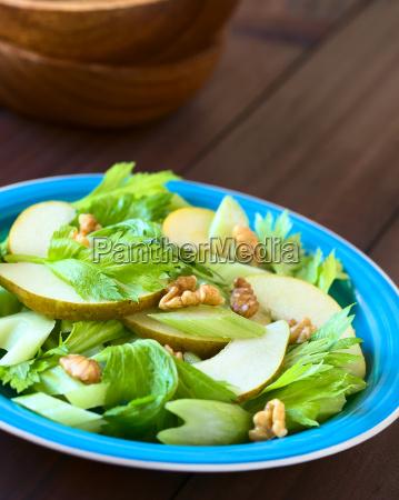 celery pear and walnut salad