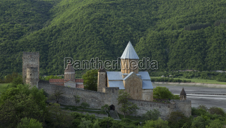 ananuri fortress with church near tbilisi