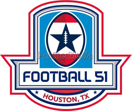 houston american football 51 stars crest