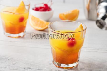 fresh home made mai tai cocktails