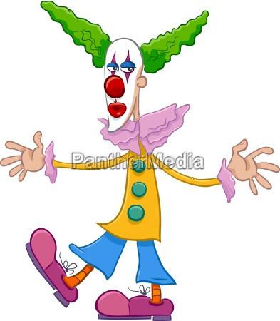 circus clown character cartoon