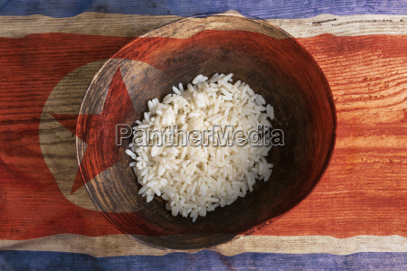 poverty concept bowl of rice with
