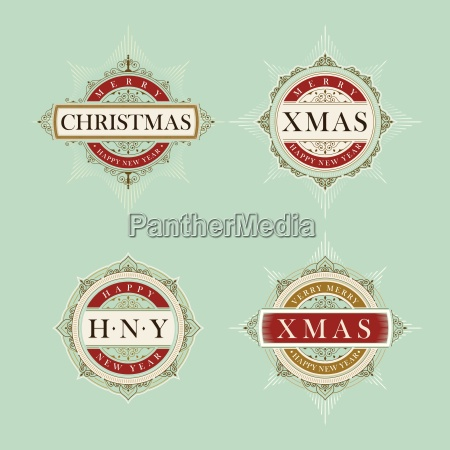 vector luxury elegant christmas and happy