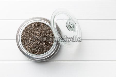 chia seeds in jar