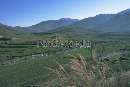 agricultural landscape near murghazar swat north