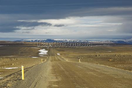 gravel road route 87 from husavik
