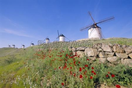windmills in consuegra castilla la mancha