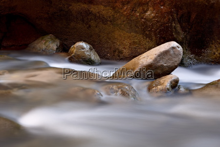 round rocks in the virgin river