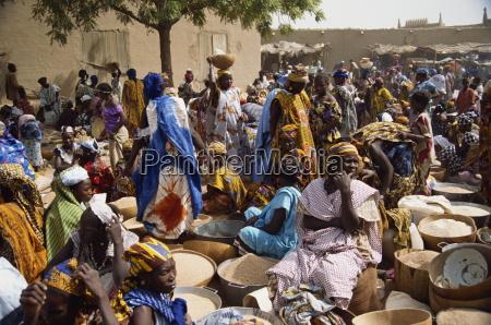 market day djenne mali west africa