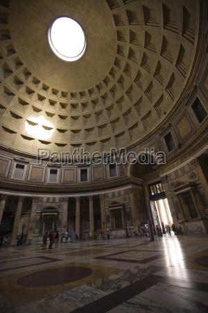interior pantheon rome lazio italy europe