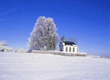 little church near losheim saarland germany