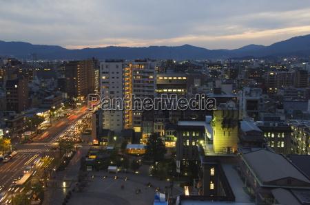 kyoto city center at night kyoto