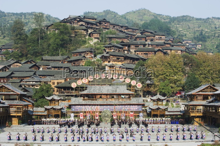miao new year festival celebrations xijiang