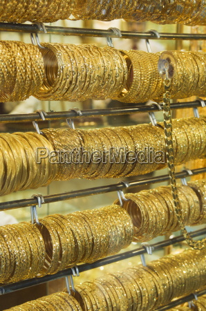 gold bangles in the gold souk