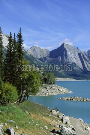 medecine lake rocky mountains rockies canada