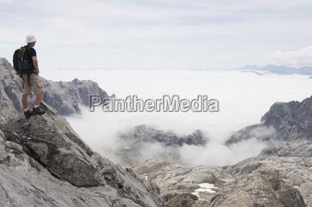 hiker on tesorero peak picos de