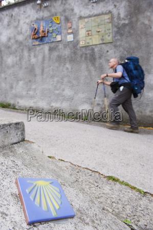 hiker pilgrim on the camino de
