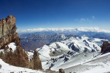 vew from aconcagua 6962m highest peak