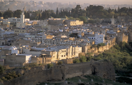 elevated view of the medina or