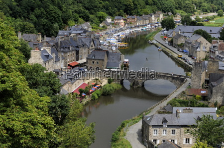 view of the old port dinan