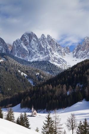 winter landscape of st johann church