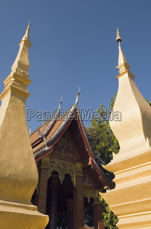 buddhist temple luang prabang laos indochina