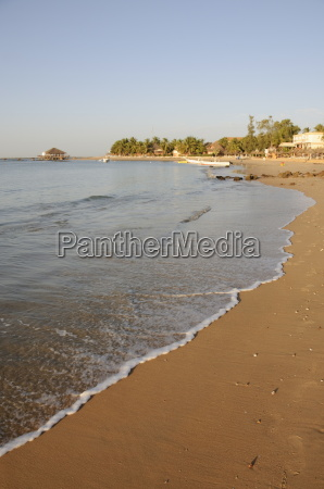 beach at saly senegal west africa