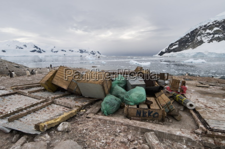 remains of argentine hut destroyed by