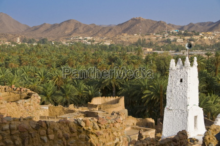 the old ruined town ksour of