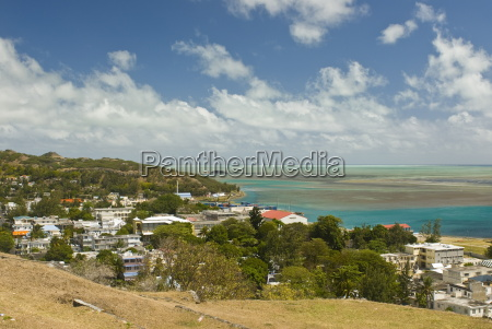 view of port mathurin capital of